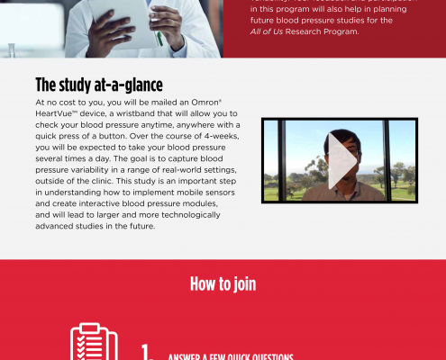 BP Study Landing Page - The Scripps Research Institute - Chris Naples