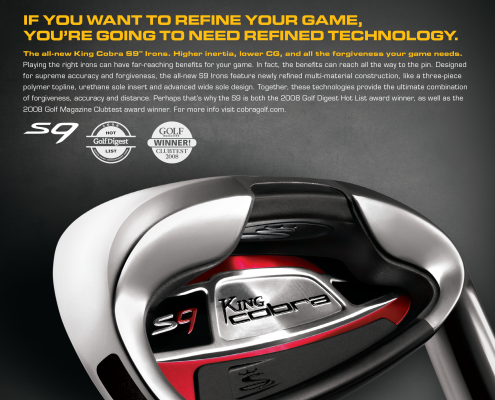 Cobra Golf S9 Ad - VITRO - Chris Naples