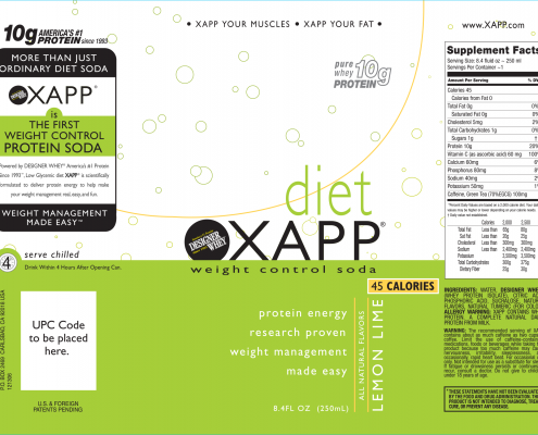 Diet Xapp Packaging - Designer Whey - Chris Naples